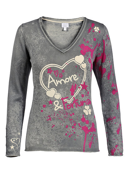Пуловер С Рисунком
