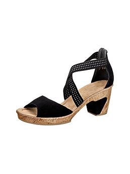 Rieker Sandalette mit Gummizug und 65mm Absatz