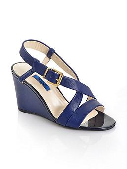 Riemchen-Keil-Sandalette